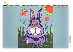 Funny Bunny  Carry-all Pouch by Kathleen Sartoris