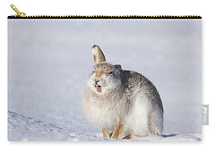 Funny Face - Mountain Hare - Scottish Highlands  #13 Carry-all Pouch