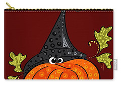 Carry-all Pouch featuring the painting Funny Halloween by Veronica Minozzi