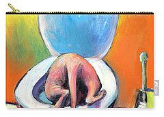 Funny Sphynx Cat Painting Prints Carry-all Pouch