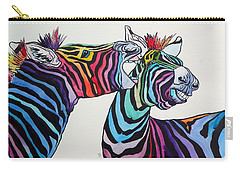 Funny Zebras Carry-all Pouch