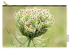Furled Queen Anne's Lace Carry-all Pouch