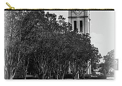 Furman University Bell Tower Greenville South Carolina Black And White Carry-all Pouch