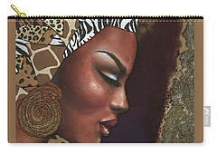 Carry-all Pouch featuring the mixed media Further Contemplation by Alga Washington