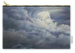 Carry-all Pouch featuring the painting Fury Over Square Butte by Kim Lockman
