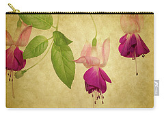Carry-all Pouch featuring the photograph Fuschia  #2 by Rebecca Cozart