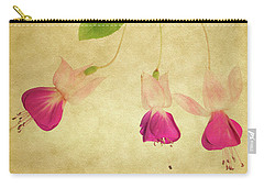 Carry-all Pouch featuring the photograph Fuschia #3 by Rebecca Cozart