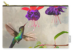 Fuchsia And Hummingbird Carry-all Pouch