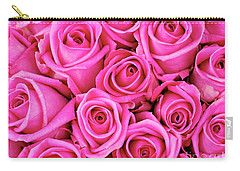 Fuschia Colored Roses Carry-all Pouch