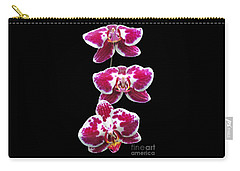Fuschia Orchid Triplets Carry-all Pouch