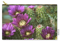 Carry-all Pouch featuring the photograph Fuschia Passion  by Saija Lehtonen