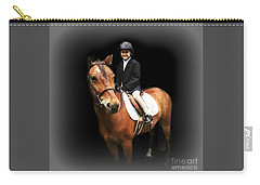 Carry-all Pouch featuring the photograph Future Horse Woman by Barbara S Nickerson