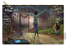 Carry-all Pouch featuring the digital art Future Road by Shadowlea Is