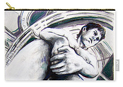 Carry-all Pouch featuring the drawing Future Time Traveler Peter Pan by Rene Capone