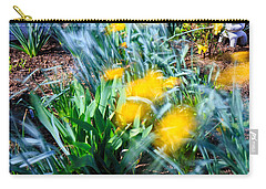Fuzzy Daffodils Carry-all Pouch by Allan Levin