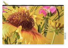 Carry-all Pouch featuring the photograph Gaillardia And Dianthus by Richard Rizzo