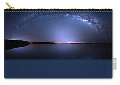 Carry-all Pouch featuring the photograph Galactic Lake by Mark Andrew Thomas