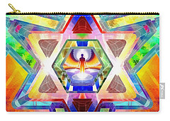 Carry-all Pouch featuring the digital art Galactic Salon by Derek Gedney