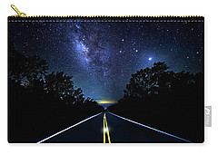 Carry-all Pouch featuring the photograph Galaxy Highway by Mark Andrew Thomas
