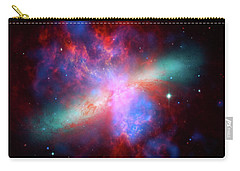 Carry-all Pouch featuring the photograph Galaxy M82 by Marco Oliveira