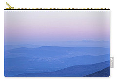 Carry-all Pouch featuring the photograph Galilee Mountains Sunset by Yoel Koskas