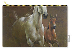 Gallop In The Eyelash Of The Morning Carry-all Pouch by Vali Irina Ciobanu