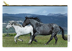 Galloping Through The Scenery In Wyoming Carry-all Pouch