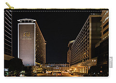 Carry-all Pouch featuring the photograph Galt House Hotel And Suites At Night by Randy Scherkenbach