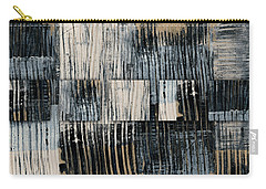 Carry-all Pouch featuring the mixed media Galvanized Paint Number 1 Horizontal by Carol Leigh