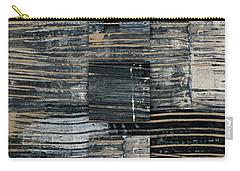Carry-all Pouch featuring the photograph Galvanized Paint Number 2 Vertical by Carol Leigh