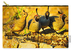 Gambel's Quail Foursome Carry-all Pouch