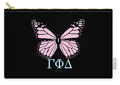Gamma Phi Delta Classy Butterfly  Carry-all Pouch