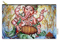 Ganesha Dancing And Playing Mridang Carry-all Pouch