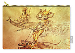 Ganesha And Kartikeya In A  Race Carry-all Pouch