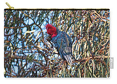 Carry-all Pouch featuring the photograph Gang Gang Cockatoo - Canberra - Australia by Steven Ralser