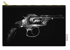 Carry-all Pouch featuring the mixed media Gangster Gun by Daniel Hagerman
