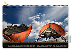 Gangster Ladybugs Nature Gone Mad Carry-all Pouch by Bob Orsillo