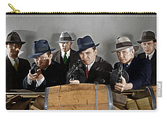 Carry-all Pouch featuring the photograph Gangsters by Granger
