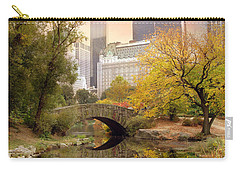Gapstow Bridge Reflections Carry-all Pouch by Jessica Jenney