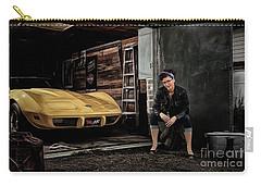 Garage Portrait Carry-all Pouch by Brad Allen Fine Art