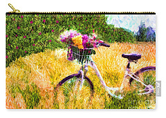 Garden Bicycle Print Carry-all Pouch