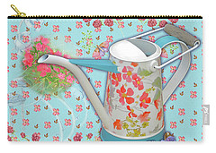 Carry-all Pouch featuring the mixed media Garden Blessings by Nancy Lee Moran