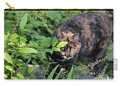 Garden Cat On The Hunt Carry-all Pouch