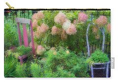 Carry-all Pouch featuring the photograph Garden Chairs by Larry Bishop