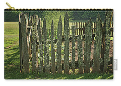 Carry-all Pouch featuring the photograph Garden - Fence by Nikolyn McDonald