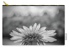 Garden Flower In Black And White Carry-all Pouch by Henri Irizarri