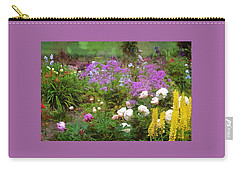 Carry-all Pouch featuring the photograph Garden Fun by Thom Zehrfeld