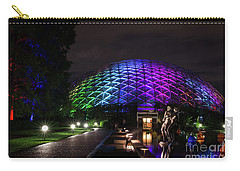 Carry-all Pouch featuring the photograph Garden Globe At Night by Andrea Silies