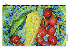 Carry-all Pouch featuring the mixed media Garden Harvest by Shawna Rowe