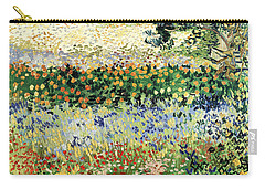 Carry-all Pouch featuring the painting Garden In Bloom by Van Gogh